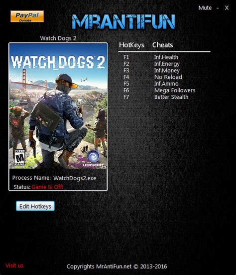 Watch Dogs 2 Trainer +7 v1