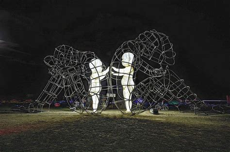 Gripping Sculpture At Burning Man Reveals The Harsh Truth