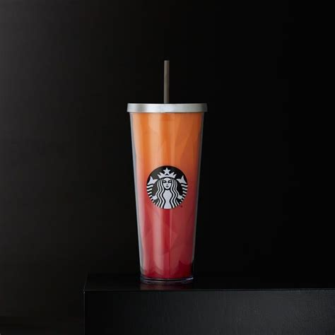 A sturdy, Venti-size plastic Cold Cup with faceted inner