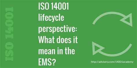 ISO 14001 lifecycle perspective: What does it mean in the EMS?