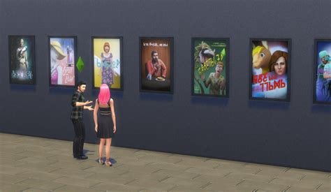 Update with free movie posters in The Sims 4 - Sims Online
