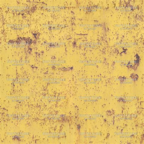 Cracked Yellow Paint on Metal - Top Texture