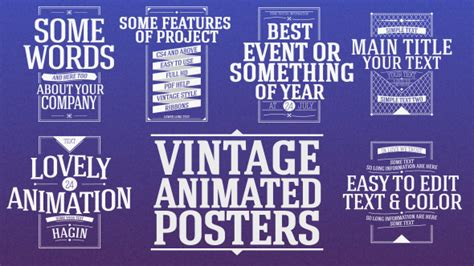 Animated Vintage Posters by NewJackTheGreat | VideoHive