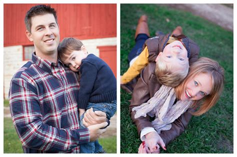 Mother son, Father son, fall family pictures, red barn
