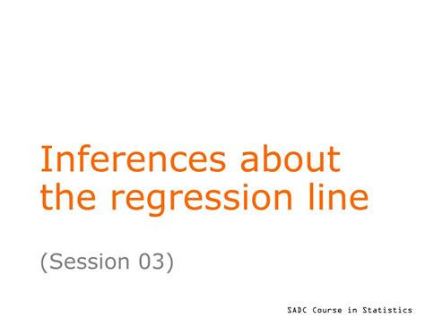 PPT - Inferences about the regression line PowerPoint