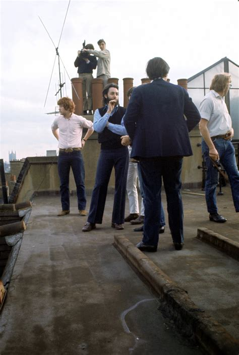 Wonderful Color Photographs of The Beatles' Rooftop