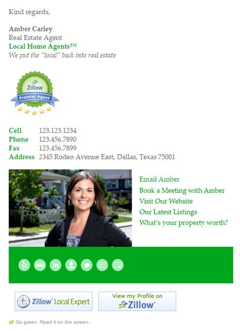 Real Estate Agent email signature templates | Email