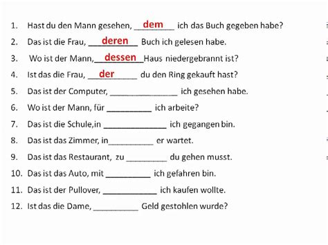 More work with relative pronouns in German - www