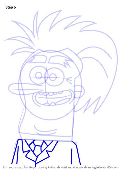 Learn How to Draw 3D Dave from Grojband (Grojband) Step by
