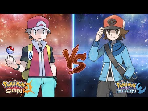 Pokémon - From left to right, Green, Blue, and Red