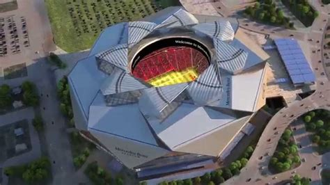 Preview of the New Mercedes-Benz Stadium - YouTube