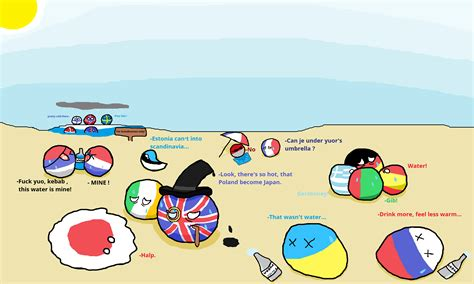 Too hot in Europe - Countryballs