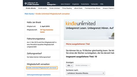 Kindle Unlimited: So kündigt ihr euer Abo bei Amazons