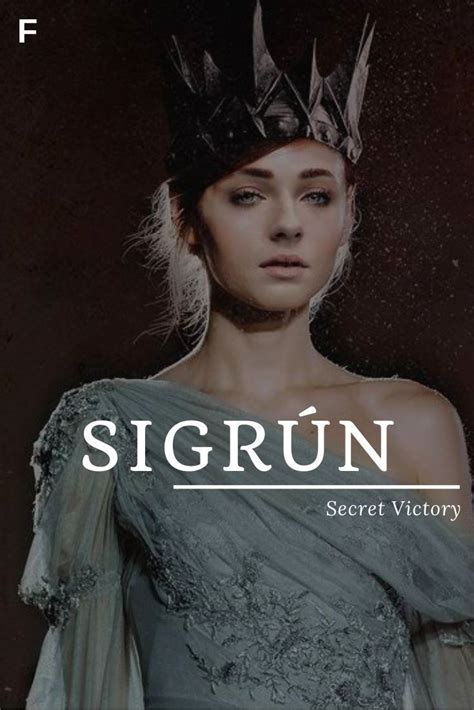 Sigrun meaning Secret Victory Old Norse names S baby girl