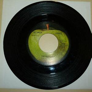 BEATLES 45 RPM RECORD - APPLE 2490 - STEREO - NO CAPITOL