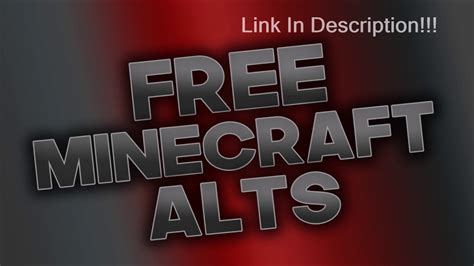 FREE MINECRAFT ALTS full access - YouTube