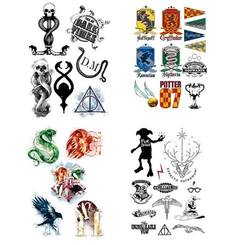 Official Harry Potter Temporary Tattoos Set: Buy Online on