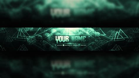 Free Youtube Banner Template Design + Photoshop Download