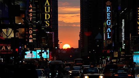 Manhattanhenge on Memorial Day and on July 11 and July 12