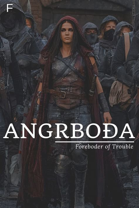 Angrboda, meaning Foreboder of Trouble, Old Norse names, A