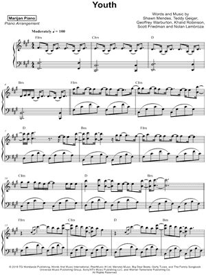 """Shawn Mendes """"Crazy"""" Sheet Music in E Major (transposable"""