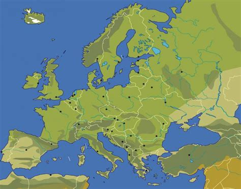 Western Europe Bodies of Water and Landforms Quiz