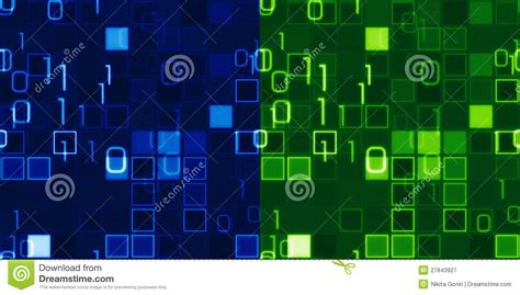 Blue And Green Seamless IT Backgrounds Stock Illustration