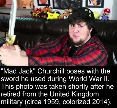 Jack Churchill posing with his sword he used in WW2 | Fake