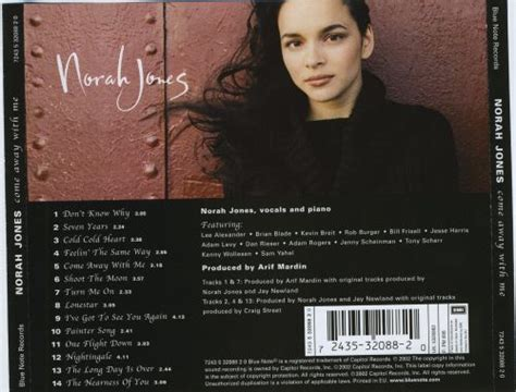 Come Away with Me - Norah Jones   Songs, Reviews, Credits