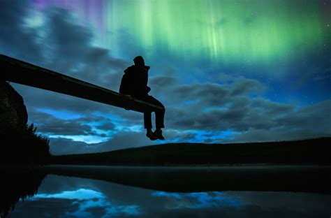 Behold the fiery Canadian Northern Lights