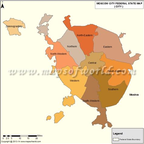 Moscow Oblast Map , Russia