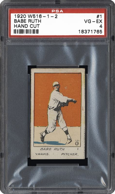 Baseball Cards - 1920 W516-1-2 | PSA CardFacts™