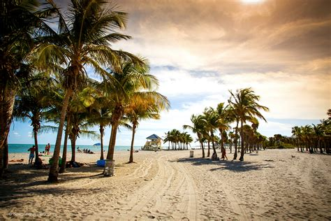 A Winter's Day at Crandon Park Beach on Key Biscayne in