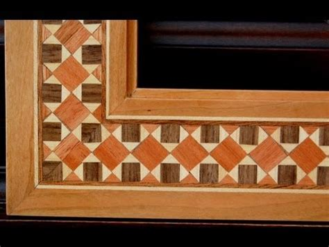 Picture Frame - Cosmati Wood Inlay - YouTube