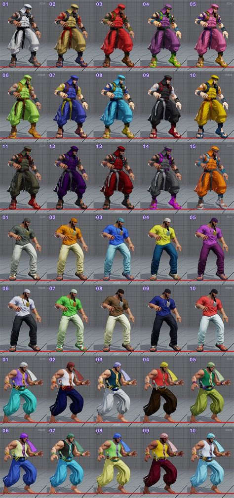 Costumes and Unlockable Colors - Street Fighter 5 Wiki