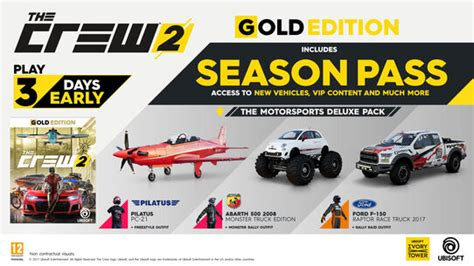 Buy The Crew 2 Gold Edition for PS4, Xbox One and PC